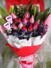 AHR1369 (Mixed red & pink roses)